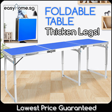★TOP SELLER★ 120cm x 60cm / 180cm x 60cm Portable Foldable Aluminium Table / Folding Chair