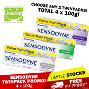 [SENSODYNE] CHOOSE ANY 2! ★ 4 x 100g Value Pack Toothpaste ★ Fresh Mint/Gentle Whitening/Gum Care