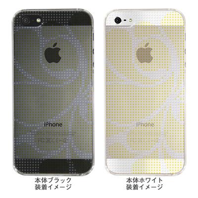 【iPhone5S】【iPhone5】【Clear Arts】【iPhone5Sケース】【iPhone5ケース】【ケース】【カバー】【スマホケース】【クリアケース】【チェック・ボーダー・ドット】【ドットレトロ】【イエロー】 06-ip5-ca0051i-yの画像