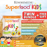 Superfood+ Kids [22 Mulitgrain+DHA Colostrum Milk Calcium] - Breakfast for Kids (TWIN BUNDLE)