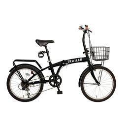 20インチ折りたたみ自転車 折りたたみ自転車 20インチ 自転車 カゴ付き折り畳み自転車 折り畳み シマノ6段変速 前カゴ LEDライト BGC-F20 阪和 メーカー直送 m097109