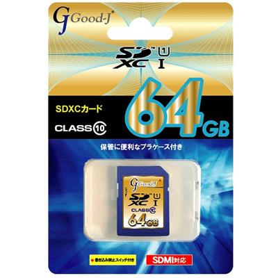 【先着20個限定】GOOD-J64GBSDXCカードUHS-1G-SDXC64-C10U1