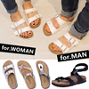 【BUY 2 FREE SHIPPING】*LOWEST PRICE*2016 Unisex Casual Beach Sandals/Leather Bottom Cork Slippers/Lovers Couple Shoes