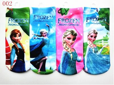 福袋★送料無料!002アナと雪の女王 キッズ靴下/靴下4足セット/Frozen/Elsa/スニーカーソックス プレゼントに!子供大好き、可愛い プレゼント適用!の画像