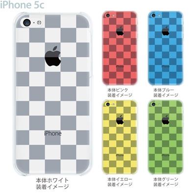 【iPhone5c】【iPhone5cケース】【iPhone5cカバー】【ケース】【カバー】【スマホケース】【クリアケース】【チェック・ボーダー・ドット】【トランスペアレンツ】【ボックス】 06-ip5c-ca0021aの画像