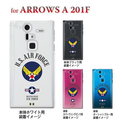 【ARROWS ケース】【201F】【Soft Bank】【カバー】【スマホケース】【クリアケース】【U.S AIR FORCE】【ミリタリー】 201f-ca-bs038の画像