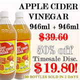 [1 + 1 Special!!] Organic Apple Cider Vinegar by Taste Original- 32oz