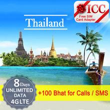 ◆ ICC◆【Thailand sim Card】Thailand DTAC/AIS/Truemove Tourist Sim Card + ❤ 8 Days Unlimited Data+Call