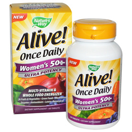 Natures Way Alive! Once Daily Womens 50+ Multi-Vitamin 60 Tablets