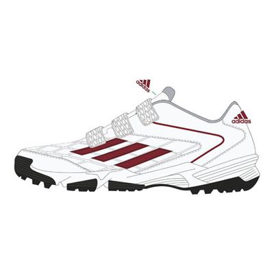 アディダス (adidas) adizeroキッズ JPトレーナー4(ランニングホワイト×パワーレッド×クリアオニキス) D73887 [分類:野球 トレーニングシューズ]の画像