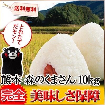 熊本県 1等米 森のくまさん 5kg×2袋 平成26年度産の画像