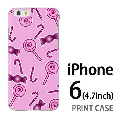 iPhone6 (4.7インチ) 用『No3 キャンディー柄』特殊印刷ケース【 iphone6 iphone アイフォン アイフォン6 au docomo softbank Apple ケース プリント カバー スマホケース スマホカバー 】の画像