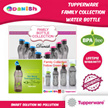Tupperware Family Bottle Aquasafe Eco Fliptop Water Bottle 310ml 500ml 750ml 1000ml *BPA Free*