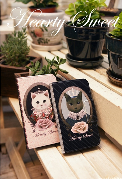 GALAXY S3 対応 ケース/ カバー /ドコモ スマートフォン カバーGALAXYS3/ギャラクシーs3 ケース キティ/ギャラクシーs3 ケース /Mr.H  Hearty sweet_royal Diary(ハーティスイートロイヤルダイアリー)の画像