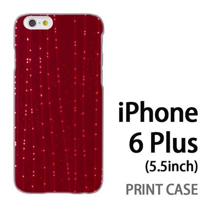 iPhone6 Plus (5.5インチ) 用『1210 ライン 赤』特殊印刷ケース【 iphone6 plus iphone アイフォン アイフォン6 プラス au docomo softbank Apple ケース プリント カバー スマホケース スマホカバー 】の画像