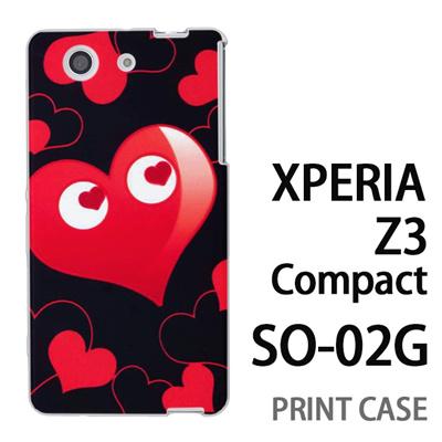 XPERIA Z3 Compact SO-02G 用『No3 ハートマン 黒×赤』特殊印刷ケース【 xperia z3 compact so-02g so02g SO02G xperiaz3 エクスペリア エクスペリアz3 コンパクト docomo ケース プリント カバー スマホケース スマホカバー】の画像