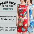 【LAZYWOMAN】[Over RM75 FREE SHIPPING] S-6XL Marie Curie Fashion mother dress Grade quality Middle-aged clothing Plus Size dress