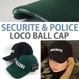 《送料無料》SANDARAスタイル!SECURITE POLICEロゴボールキャップ