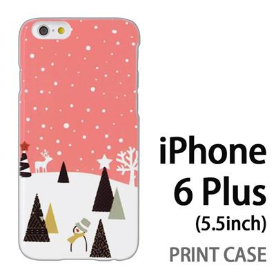 iPhone6 Plus (5.5インチ) 用『1210 雪景色 ピンク』特殊印刷ケース【 iphone6 plus iphone アイフォン アイフォン6 プラス au docomo softbank Apple ケース プリント カバー スマホケース スマホカバー 】の画像