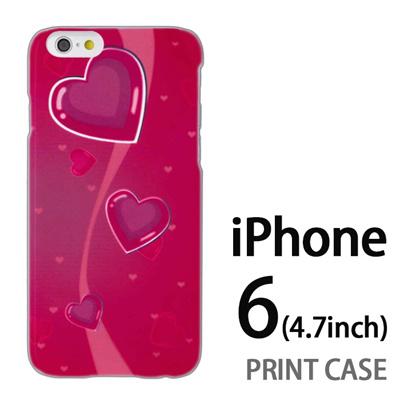 iPhone6 (4.7インチ) 用『No3 キュートポップなハート』特殊印刷ケース【 iphone6 iphone アイフォン アイフォン6 au docomo softbank Apple ケース プリント カバー スマホケース スマホカバー 】の画像