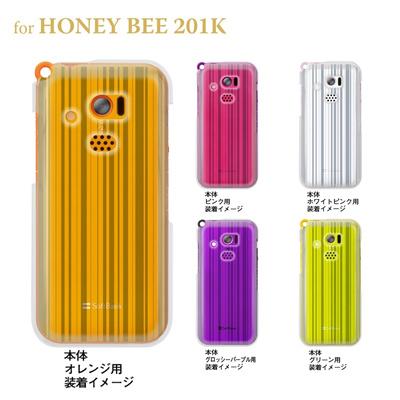 【HONEY BEE ケース】【201K】【Soft Bank】【カバー】【スマホケース】【クリアケース】【トランスペアレンツ】【ライン】 06-201k-ca0021bの画像