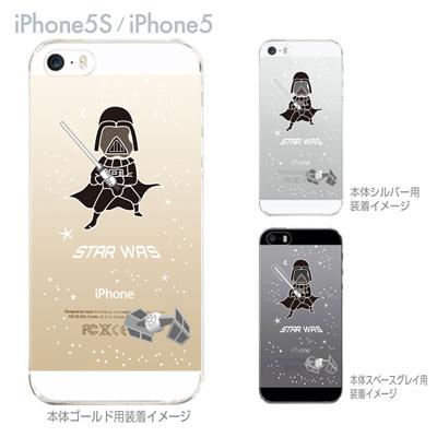 【iPhone5S】【iPhone5】【MOVIE PARODY】【iPhone5ケース】【クリア カバー】【スマホケース】【クリアケース】【ハードケース】【着せ替え】【イラスト】【ユニーク】【STAR WAS】 10-ip5-ca0056の画像