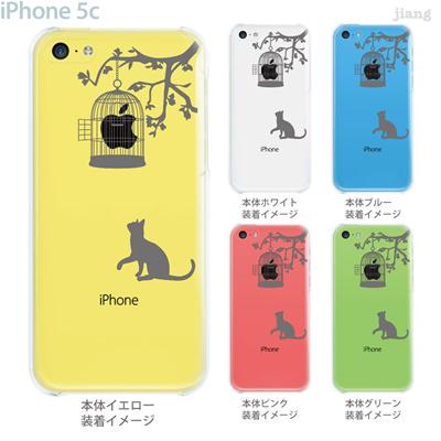 【iPhone5c】【iPhone5c ケース】【iPhone5c カバー】【ケース】【カバー】【スマホケース】【クリアケース】【クリアーアーツ】【Clear Arts】【猫と鳥かご】 01-ip5c-zec014の画像