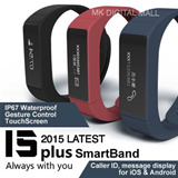 ★ 2015 LATEST Touchscreen Smartband I5 PLUS ★ Touchscreen + Gesture Control IP67 Waterproof Caller ID/Message Display Direct USB Charge Lightweight Large Screen Multi-functional Fitness Sleep Tracker