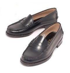 (B倉庫)HARUTA ハルタ 3048 レディース ローファー 本革 通学 学生 靴 3Eの画像