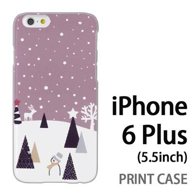 iPhone6 Plus (5.5インチ) 用『1210 雪景色 灰』特殊印刷ケース【 iphone6 plus iphone アイフォン アイフォン6 プラス au docomo softbank Apple ケース プリント カバー スマホケース スマホカバー 】の画像