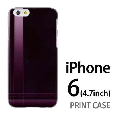 iPhone6 (4.7インチ) 用『No3 クロスライン 茶色』特殊印刷ケース【 iphone6 iphone アイフォン アイフォン6 au docomo softbank Apple ケース プリント カバー スマホケース スマホカバー 】の画像