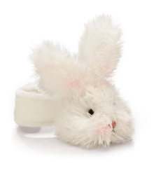 Bunnies by the Bay Bunny Rattle, White