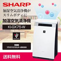 ≪カートクーポン利用可≫【送料無料】シャープ (SHARP) 加湿空気清浄機 プラズマクラスター25000搭載 プレミアムモデル ホワイト [KI-GX75-W]
