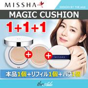 [MISSHA/ミシャ] 1+1+1 マジック クッション本品+リフィル1個+パフ1個 ジック クッション モイスチャー