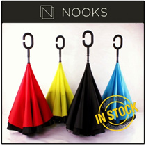 [CRAZY SALE]★PREMIUM QUALITY - Inverted Umbrella★Double Layer WindProof/Reversed Brolly★Inside Out★