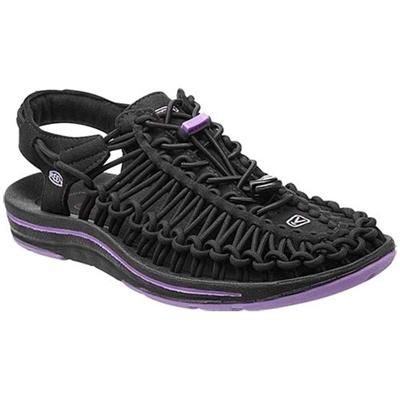 ◆即納◆キーン(KEEN) WOMEN UNEEK レディース ユニーク Black/Bougainvillea 1012199 【おしゃれ サンダル シューズ 靴 黒紫】【SNDL15】の画像