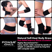 Power Ionics Tourmaline F.I.R Magnetic Heat Health Pain Relief Body Brace Support