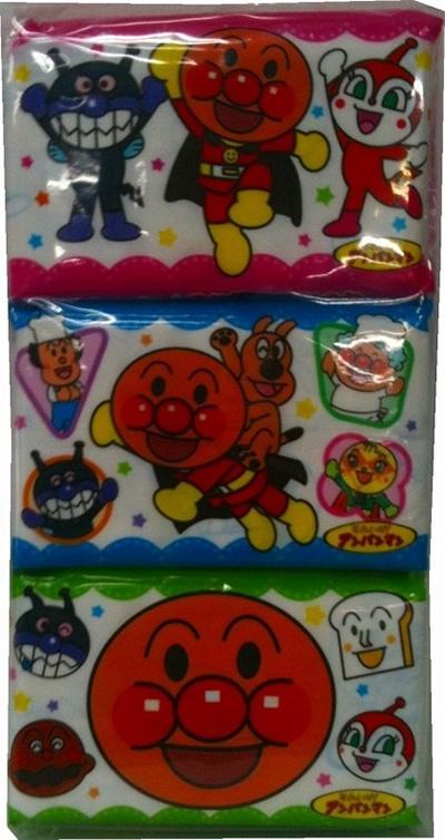 送料無料アンパンマン ポケットティッシュ6P×100個1個あたり103円(税抜)01029の画像
