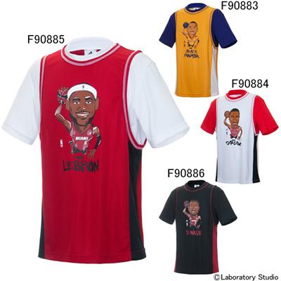 アディダス (adidas) NBA Player S/S DDY55 [分類:バスケットボール プラクティスシャツ]の画像