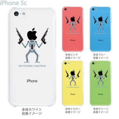【iPhone5c】【iPhone5c ケース】【iPhone5c カバー】【ケース】【カバー】【スマホケース】【クリアケース】【クリアーアーツ】【MOVIE PARODY】【ターミネタ】 10-ip5c-ca0029の画像