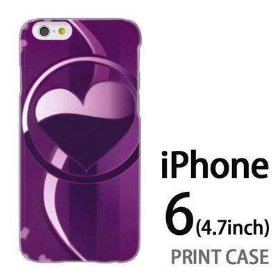 iPhone6 (4.7インチ) 用『No3 サークルハート紫』特殊印刷ケース【 iphone6 iphone アイフォン アイフォン6 au docomo softbank Apple ケース プリント カバー スマホケース スマホカバー 】の画像
