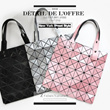 ★BUY 2 FREE SHIPPING★Folding Geometric Laser Bags Handbag Tote Bag/Totebag/Shoulder Bag /Starbags/Laptop bag/Clutch/School Bag/Document Diamond Lattice Folding Bags PU Bag