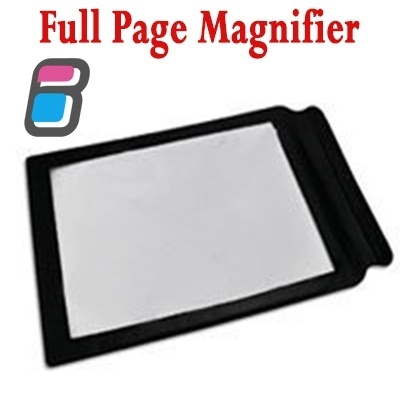 super light full page magnifier magnifying glass perfect for reading. Black Bedroom Furniture Sets. Home Design Ideas