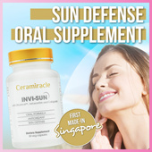 [INVI-SUN]♥Sun Defense Oral Supplement♥Ceramiracle♥ First made in Singapore♥ Boost Skin Resistance♥ Rich Antioxident and Photo-Protective ingredients ♥ 30 veg caps/ box