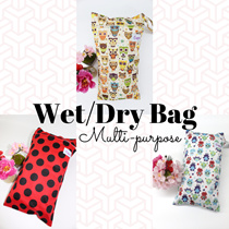 [EugeneSella] WET BAGS with Snap Handle(Diaper Wet Bag/ Swimming Bag/ Multi-purpose bag)