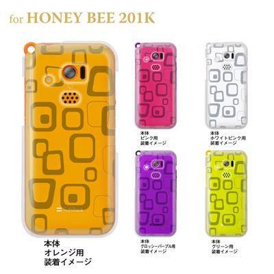 【HONEY BEE ケース】【201K】【Soft Bank】【カバー】【スマホケース】【クリアケース】【トランスペアレンツ】【ラフボックス】 06-201k-ca0021hの画像
