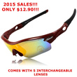 TREX 12 IN 1 SUNGLASSES INCL 5 LENSES COMES WITH MYOPIA FRAME.SUITABLE FOR ALL SPORTS AND OUTDOOR WEAR