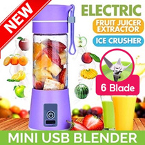 ▶NEW GEN◀★6 Blades Upgrade ★ USB Portable Rechargeable Fruit Juicer★Extractor★Blender★ sg warranty