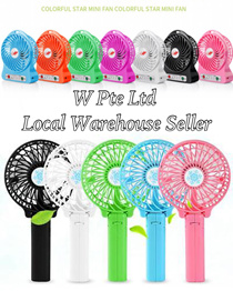 CHEAPEST gift! $2.90 FLAT Portable Rechargeable Fan - Handheld Rechargeable Fan FREE Recharge