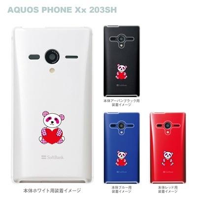 【AQUOS PHONEケース】【203SH】【Soft Bank】【カバー】【スマホケース】【クリアケース】【パンダ】 22-203sh-ca0024の画像